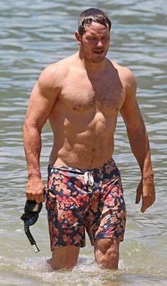 Chris Pratt....ich lebe noch! Dieser Swimmingpool ist doch größer, als ich dachte, aber die Liebe zu meiner Frau, ließ mich den sicheren Hafen finden! Liebe Grüße, alles in Ordnung, ihr könnt hier schwimmen gehen!