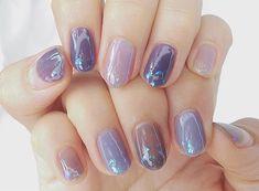 Luv Nails, Pretty Nails, Asian Nails, Korean Nail Art, Kawaii Nails, Short Nails Art, Minimalist Nails, Cute Nail Art, Artificial Nails