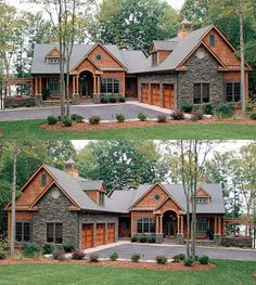 Are you searching for inspiration for modern farmhouse? Check out the post right here for unique modern farmhouse pictures. This unique modern farmhouse ideas looks entirely fantastic. Dream House Exterior, Exterior House Colors, Exterior Siding, Wood Siding, Siding Colors, Stone Siding, Craftsman Exterior, Exterior Remodel, Exterior Paint