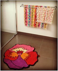 Wonderful Daffyu0027s Garden: A Purple Flower Border Rug | Rag Rugs | Pinterest | Border  Rugs And Flower Nice Ideas