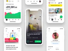 Hello everyone,  First shot of 2018.   Sharing some screens from a Mobile app we did for Snug, an Australian property management and bond cover startup. This is a real project, and these screens ar...