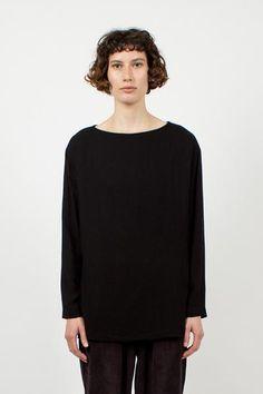 Black Long Slit Top