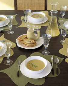 All you need is a pair of scissors and a few other simple materials to grow big leaf place mats from Ultrasuede fabric -- no watering required.