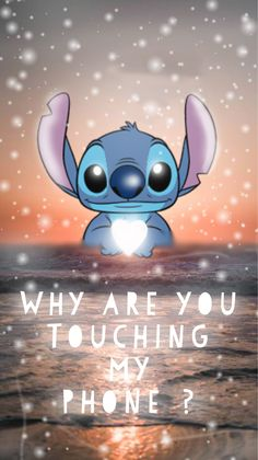 """Stitch, and """"why are you touching my phone"""" Mickey Mouse Wallpaper Iphone, Butterfly Wallpaper Iphone, Iphone Wallpaper Images, Iphone Wallpaper Glitter, Cartoon Wallpaper Iphone, Iphone Wallpaper Tumblr Aesthetic, Iphone Background Wallpaper, Cute Disney Wallpaper, Cute Cartoon Wallpapers"""