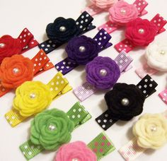flower hairclips