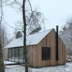 Haus & Hof # Architektur # Gebäude # Haus # Treppe # Wand An Overview of Solar Cells Through The Yea Cabins In The Woods, House In The Woods, Modern Barn, Modern Farmhouse, Building A Cabin, Building Stairs, Black Building, Building Homes, Stairs Architecture