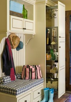small mudroom closet