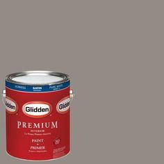 Glidden Premium 1-gal. #HDGWN52U Castle Wall Grey Satin Latex Interior Paint with Primer
