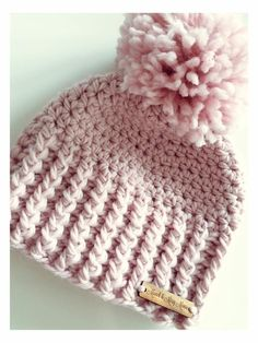 Crochet Gift Design Versatile Chunky Pom Pom Hat Pattern Crochet pattern by Little Wildflower Crochet - Crochet Adult Hat, Crochet Beanie Pattern, Crochet Blanket Patterns, Easy Crochet, Crochet Stitches, Crochet Baby, Knitting Patterns, Knit Crochet, Crochet Blankets