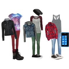 A fashion look from December 2013 featuring cuff shirts, embroidered t shirts and layering tank