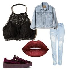 """"""""""" by leann-marie2003 on Polyvore featuring Mode, Hollister Co., Topshop, Puma, Gap und Lime Crime"""