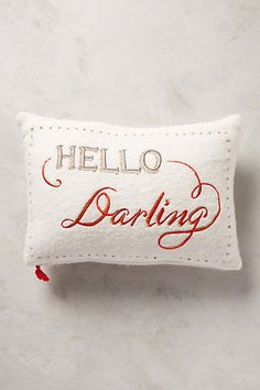 Merry Sentiments Pillow - anthropologie.com #anthrofave