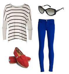 Cobalt jeans outfit idea