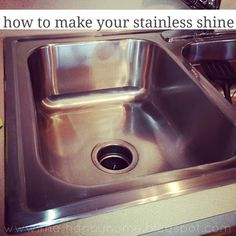 Another pinner says: I just did this to my sink and it looks just as shiny as the picture. I didn't think my old, nicked up, stainless sink could look so good, but it does! How to make your stainless shine. I am so going to try this!
