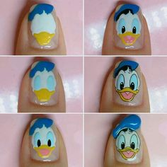 [UPDATED] 150 Best Disney Nails (April : [UPDATED] 150 Best Disney Nails (April More than 150 Disney Nails! Take this list of Disney nail design ideas to your next manicure and your nails will look amazing. Cartoon Nail Designs, Disney Nail Designs, Nail Art Designs, Funky Nail Art, Cute Nail Art, Cute Acrylic Nails, Duck Nails, Cat Nails, Minion Nails