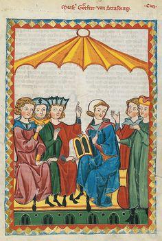 Codex Manesse, UB Heidelberg, Cod. Pal. germ. 848, fol. 364r, Meister Gottfried von Straßburg