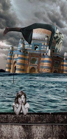 Mon rêve, 2017. Collage papier de Zophie Zyphon