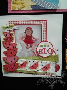 Stampin Up just gave me an idea for some fun summer pictures!  #scrapbook #page #layout http://scrapnparadise.webs.com     Come for a weekend visit at Scrap 'n Paradise Retreat in Oklahoma and scrap all those summer pictures!