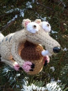 CROCHET - Amigurumi Scrat the Squirrel from Ice Age - FREE Crochet Pattern / Tutorial (ICE AGE)