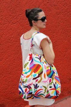 Otomi embroidered bag