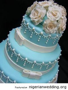 Nigerian Wedding Tiffany Blue Cakes Theme 17