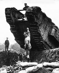 Trench maneuvering during the Battle of Cambrai. France, 1917. Underwood & Underwood