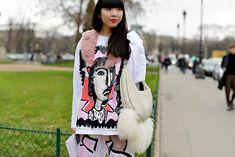 Неделя высокой моды в Париже: street style. День 2 (фото 15)