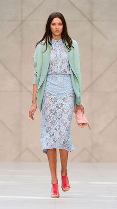 English Floral Lace Pencil Skirt | Burberry