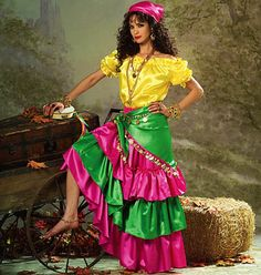 Gypsy Dancer Costume Pattern ChaCha Costume Pattern by blue510
