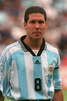 Diego Simeone del Atletico de Madrid y la Selección Argentina.