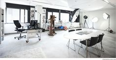 impression of the photo studio in The Hague