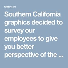 southern california graphics decided to survey our employees to give you better perspective of the type