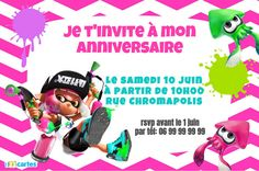 Invitation anniversaire splatoon