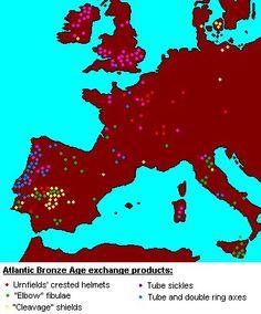 Atlantic Bronze Age trading network