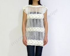 Hand Knit Openknit sweater by orchideaboutique on Etsy, $89.00
