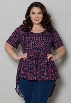 Plus Size Tops | Jolene Babydoll Top | Swakdesigns.com