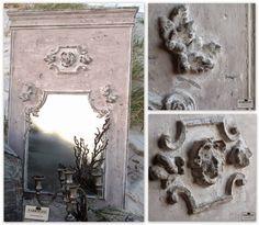 FARRAGOZ Trumeau Style Mirror. #paintedfurniture #patina #onlinecourse #shabbychic #antiques #paintfinish #distressedpaint #antiquefinish #antiquelook #agedfurniture #wornpaint