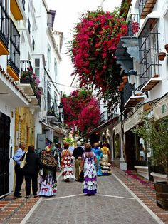 Marbella - old town street. #Marbella , #Spain, #CostaDelSol  Check out our Spanish Lifestyle blog at: http://novo-properties.com/blog/