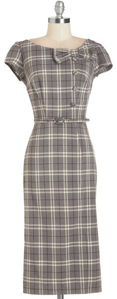Gorgeous plaid wiggle dress 50s