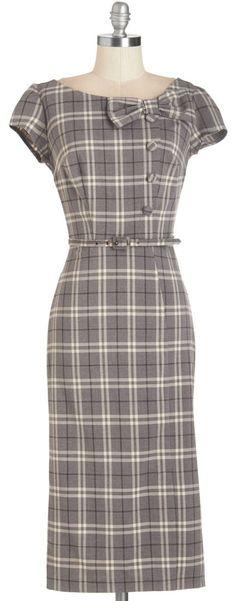 Gorgeous plaid wiggle dress 50s