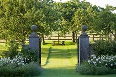 The Enchanted Home: Early week musings, a giveaway and a guest post! Formal Gardens, Outdoor Gardens, Champs, Formal Garden Design, Enchanted Home, Belleza Natural, Garden Gates, Dream Garden, Beautiful Gardens