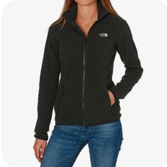 North Face 100 Glacier Full Zip Womens Fleece - Free Delivery options on All Orders from Surfdome UK The North Face, North Face Women, Cute Jackets, Jackets For Women, Black Zip Ups, High Collar, North Face Jacket, Fashion Outfits, Clothes