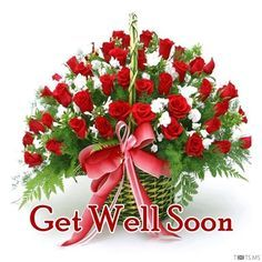 Get Well Soon Images with Rose Flowers Get Well Soon Images, Get Well Soon Messages, Well Images, Pictures Images, Good Morning Flowers, Good Morning Wishes, Beautiful Morning, Get Well Soon Flowers, Flower Images Free