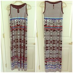 Style& Co. Maxi dress 95 polyester 5 spandex,super comfortable! Style & Co Dresses Maxi