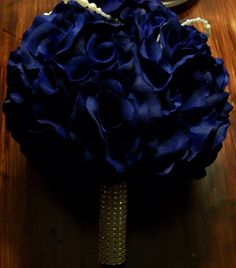 """Bling wrapped 7"""" bouquet with a single strand of pearls and brooch at top. $28.00 USD www.etsy.com/myglorifiedlife"""