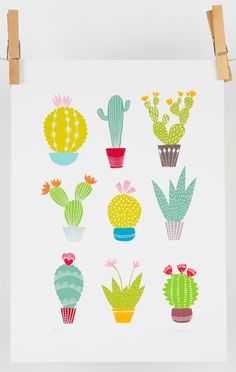 A4 cactus art print by MaggieMagoo Designs