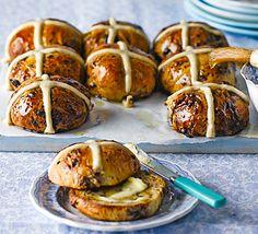 Chocolate & spice hot cross buns
