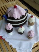 Cake cosies for tea pot and eggs