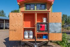 Jerry and Renee Tiny House | Storage Shed