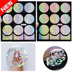 1.61$  Buy here - http://ali3x0.shopchina.info/go.php?t=32633704974 - 2016 New Outline Flowers Nail Vinyls Irregular Grid Pattern Stamping Nail Art Tips Manicure Stencil Hollow Stickers Guide  #shopstyle